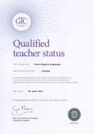 Qualified Teacher Status