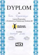 Studencki Nobel 2012, województwo łódzkie